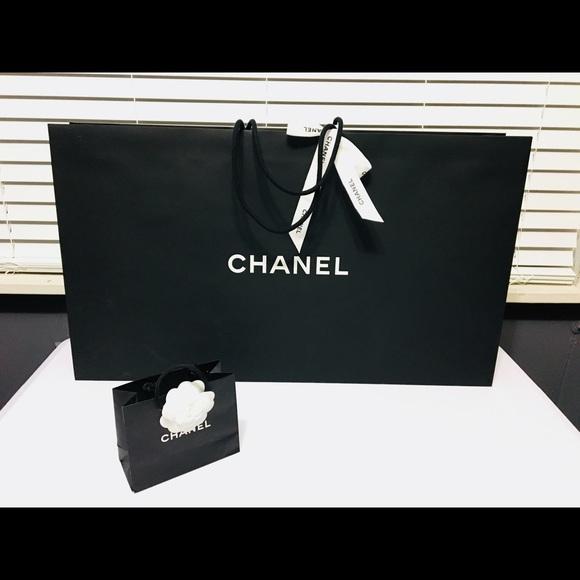 112cecbfc63e CHANEL Other | Xxl 28x16x5 Empty Paper Shopping Gift Bag | Poshmark